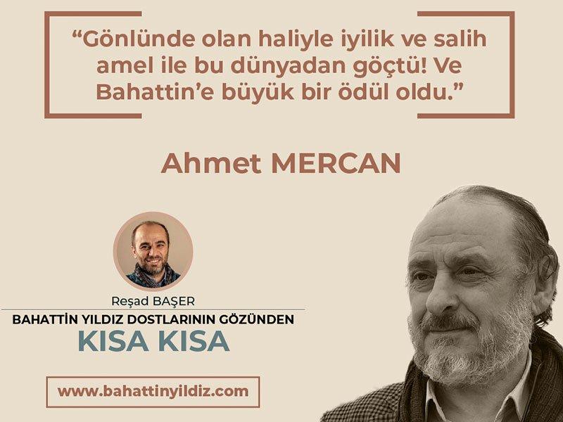 Ahmet MERCAN ile Kısa Kısa